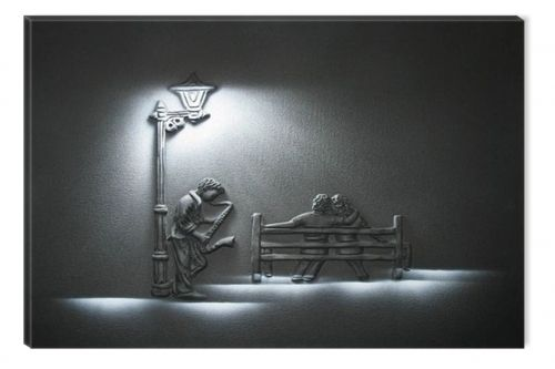 Tablou Saxofonist, luminos in intuneric, 60 cm x 90 cm