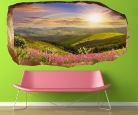 3D Mural Wall Art Dream day, Glowing in the dark, 1.50 x 0.82 m