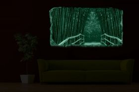 3D Mural Wall Art Bamboo Alley, Glowing in the dark, 1.50 x 0.82 m
