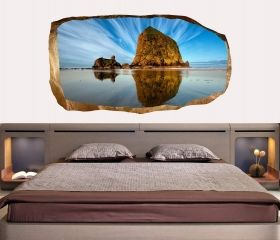 3D Mural Wall Art Heaven and water, Glowing in the dark, 1.50 x 0.82 m