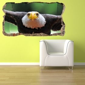 3D Mural Wall Art Vulture, Glowing in the dark, 1.50 x 0.82 m