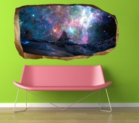 3D Mural Wall Art Nice sky, Glowing in the dark, 1.50 x 0.82 m