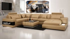 3D Mural Wall Art Retro car, Glowing in the dark, 2.20 x 1.20 m
