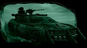 3D Mural Wall Art The car in the movie, Glowing in the dark, 2.20 x 1.20 m