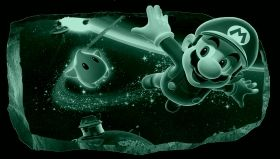 3D Mural Wall Art Super Mario, Glowing in the dark, 2.20 x 1.20 m