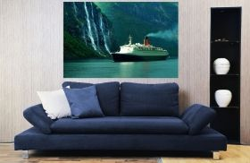 Canvas Wall Art Cruise ship, Glowing in the dark, 60 x 90 cm