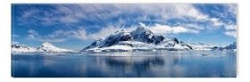 Canvas Wall Art The land of ice wonders, Glowing in the dark, 40 x 120 cm