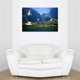 Canvas Wall Art Fiord, Glowing in the dark, 80 x 120 cm
