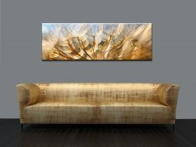 Canvas Wall Art Dandelion, Glowing in the dark, 40 x 120 cm