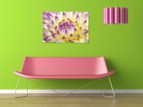 Canvas Wall Art The flower opens, Glowing in the dark, 60 x 90 cm