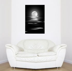 Canvas Wall Art The moon , Glowing in the dark, 60 x 90 cm