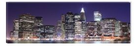 Canvas Wall Art Manhattan, Glowing in the dark, 40 x 120 cm