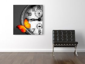 Canvas Wall Art Butterfly, Glowing in the dark, 80 x 80 cm