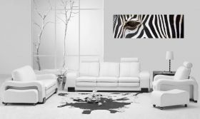 Tablou Zebra, luminos in intuneric, 40 x 120 cm