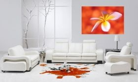 Canvas Wall Art Frangipani, Glowing in the dark, 60 x 90 cm
