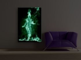 Canvas Wall Art Hot girl, Glowing in the dark, 80 x 120 cm