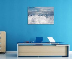 Canvas Wall Art Fluffy clouds, Glowing in the dark, 80 x 120 cm