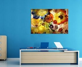 Canvas Wall Art Hypnotic sensation, Glowing in the dark, 80 x 120 cm