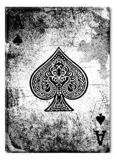 Canvas Wall Art Ace of Spades, Glowing in the dark, 80 x 120 cm