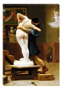 Tablou Jean Leon Gerome - Pygmalion si Galatea, luminos in intuneric, 60 x 90 cm