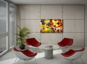 Canvas Wall Art Kandinski Abstract III, Glowing in the dark, 80 x 120 cm