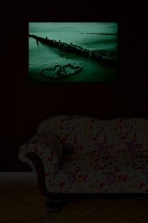 Canvas Wall Art Daydream Beach of Love, Glowing in the dark, 60 x 90 cm