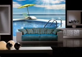 Mural Wall Art Sun and relaxation, Glowing in the dark, 3.66 x 2.56 m