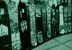 Mural Wall Art Snowboard, Glowing in the dark, 3.66 x 2.56 m