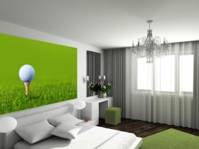 Fototapet Golf, luminos in intuneric, 1.83 x 1.28 m