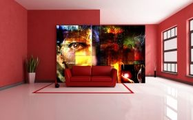 Mural Wall Art Abstract design, Glowing in the dark, 3.66 x 2.56 m