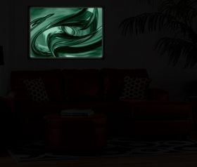 Luxury Framed Wall Art Destiny, Glowing in the dark, 70 x 100 cm