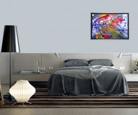 Luxury Framed Wall Art The color of life I, Glowing in the dark, 70 x 100 cm