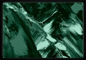 Luxury Framed Wall Art The color of life III, Glowing in the dark, 70 x 100 cm