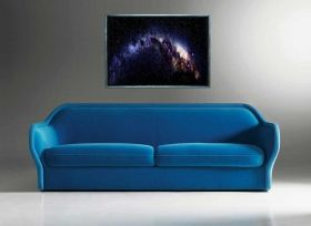 Luxury Framed Wall Art The Milky way, Glowing in the dark, 70 x 100 cm