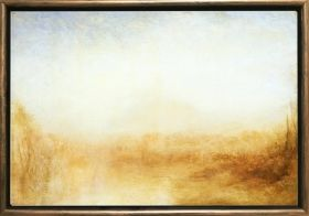 Luxury Framed Wall Art Landscape in 1840, Glowing in the dark, 70 x 100 cm