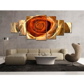 Canvas Wall Art Rose, Glowing in the dark, Set of 7, 100 x 240 cm (1 panel 40 x 100 cm, 2 panels 35 x 90 cm, 2 panels 30 x 60 cm, 2 panels 30 x 40 cm)