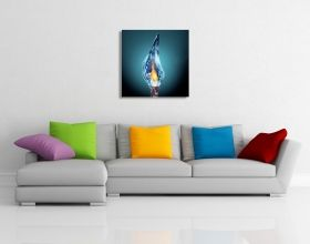 Glass Wall Art Fire and Ice, Glowing in the dark, 60 x 60 cm