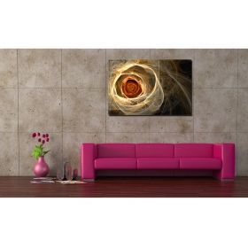 Canvas Wall Art Abstract Rose of Light, for bedroom, living room, yellow, red