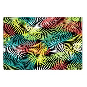 Canvas Wall Art Colored leaves, Glowing in the dark, 80 x 120 cm
