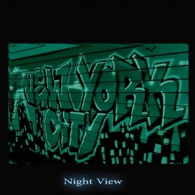 Canvas Wall Art Graffity, Glowing in the dark, 80 x 120 cm