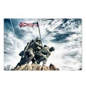 Canvas Wall Art Iwo Jima Monument, Glowing in the dark, 60 x 90 cm