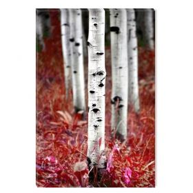 Canvas Wall Art From the birch forest, Glowing in the dark, 60 x 90 cm