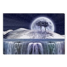 Canvas Wall Art Dream World, Glowing in the dark, 60 x 90 cm