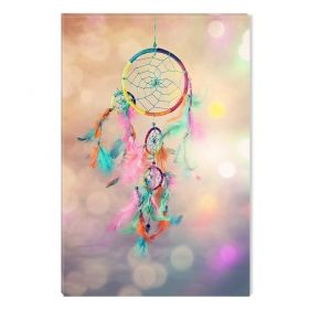 Canvas Wall Art Abstract Dream Catcher II, multi color, set, office, for bedroom, living room, modern, decor, prints, painting