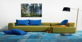 Canvas Wall Art Road in the Forest, Glowing in the dark, 60 x 90 cm