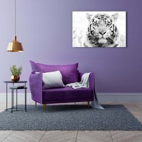 Canvas Wall Art Black and White Animals Lion and Tiger Buy one Get Two Bundle Offer