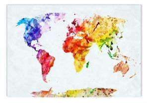 Acrylic Glass Paintings Maps