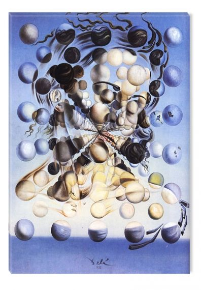 Canvas Wall Art Salvador Dali Galatea of the Spheres, Glowing in the dark, 80 x 120 cm
