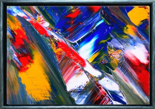 Luxury Framed Wall Art The color of life III, Glowing in the dark, 50 x 70 cm