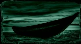 3D Mural Wall Art The boat on the sand, Glowing in the dark, 1.50 x 0.82 m